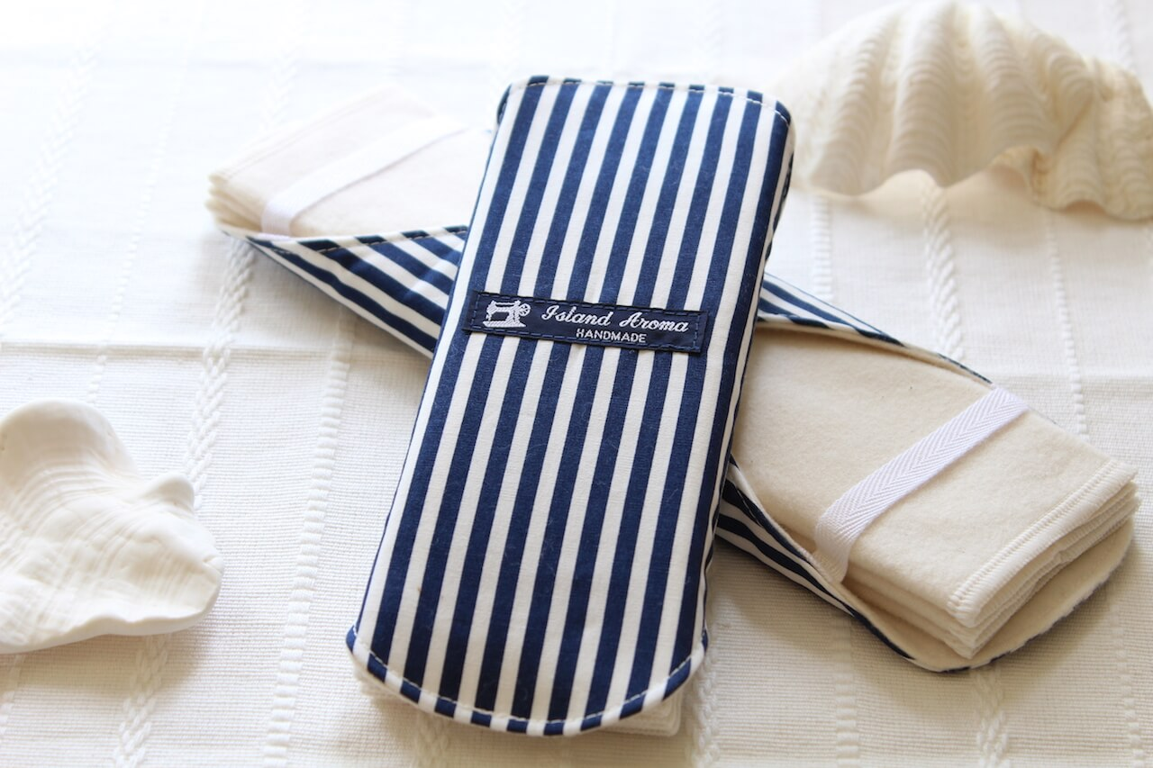 ストライプの布ナプキン