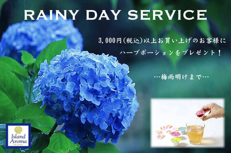 梅雨のサービス2019